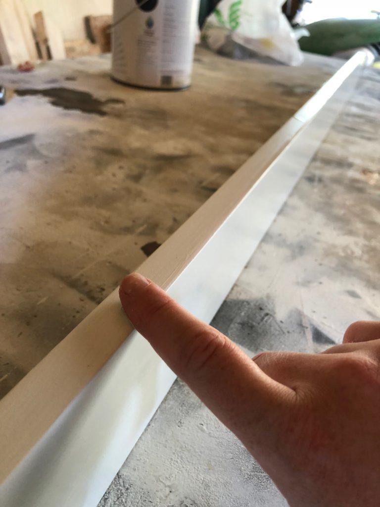 finger on white board