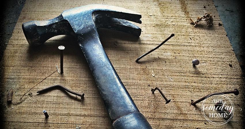 hammer wood bent nails