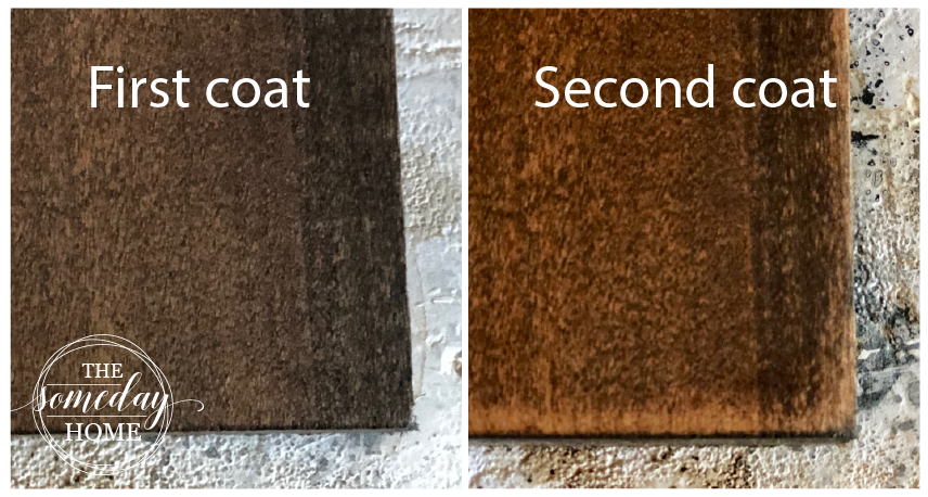 two wood samples