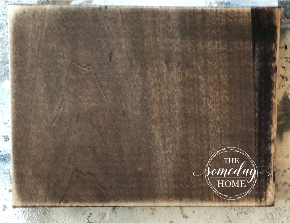 sanded block of wood