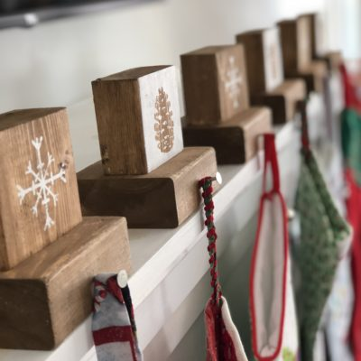 DIY Rustic Stocking Hangers