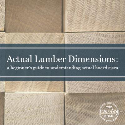 Actual Lumber Dimensions: