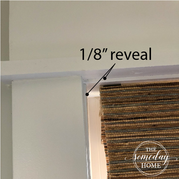 diy farmhouse window trim, 1/8 inch reveal