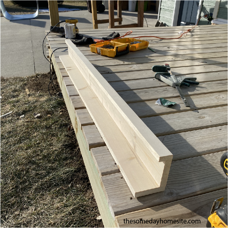 diy picture ledge assembly