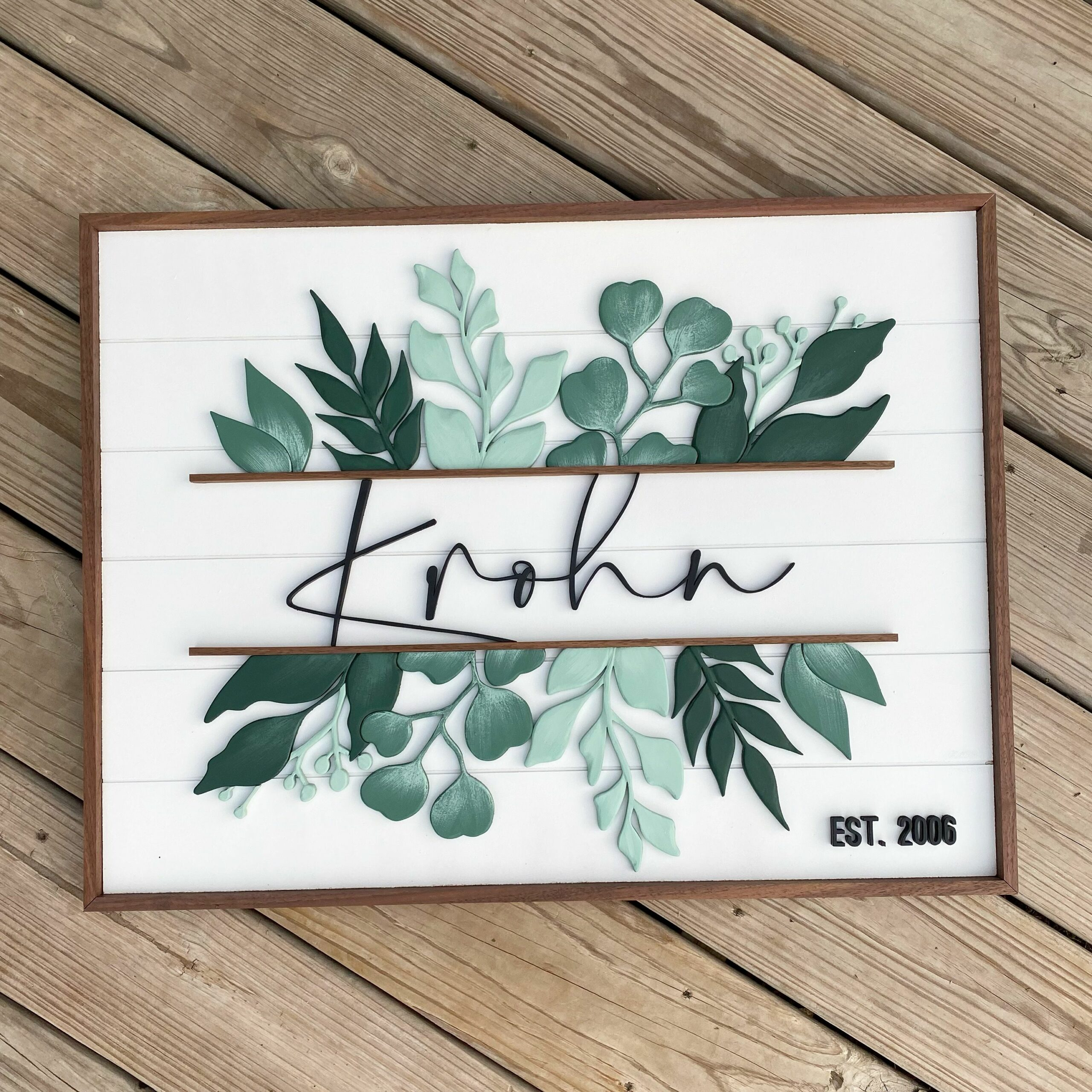 Family Greenery Sign